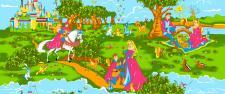 """Постельное белье из бязи 105 г/м2 """"Сказочная страна"""" 110*140 (диз.: 3718-1 Волшебная сказка) КБ"""