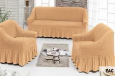 Чехол для мягкой мебели ( на диван + 2 кресла) (диз.: 203 медовый)