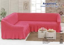 Чехол для мягкой мебели (на угловой диван) (диз.: 239 розовый)