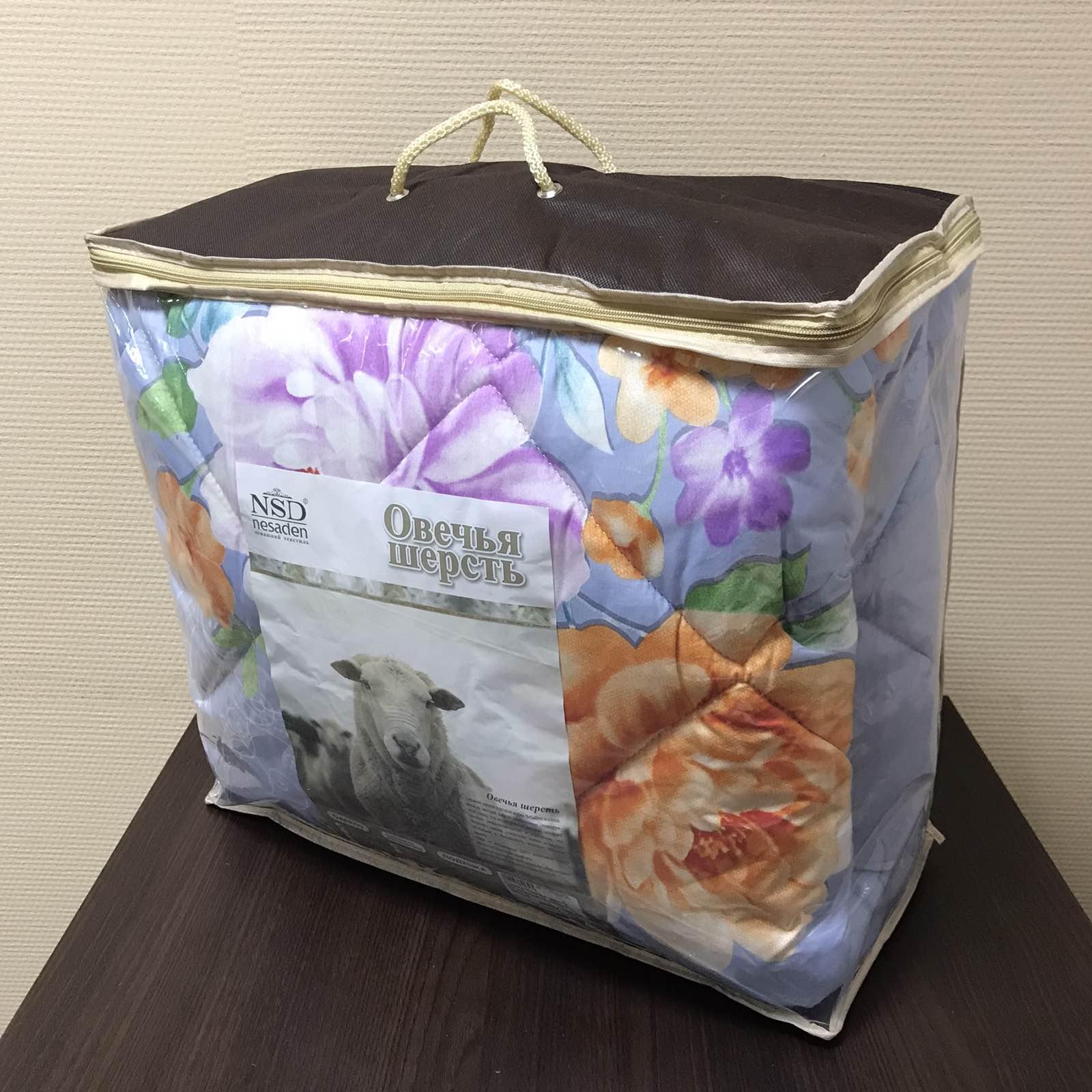 """Одеяло """"Овечья шерсть 3Д"""" микросатин 400г/м2 чемодан ОШОЕм400"""