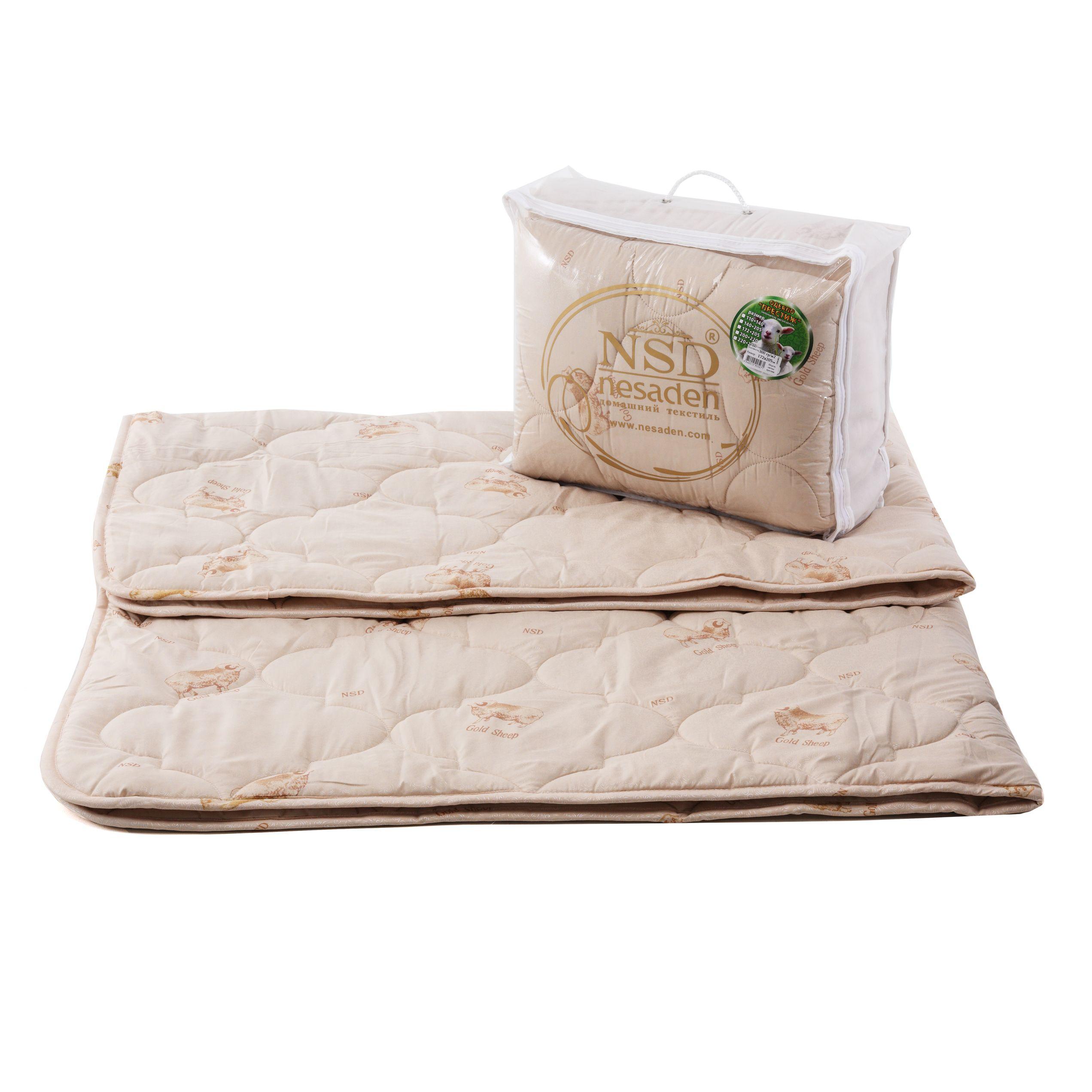 """Одеяло """"Престиж - овечья шерсть"""" глоссатин 300г/м2 чемодан ОПШЕо"""