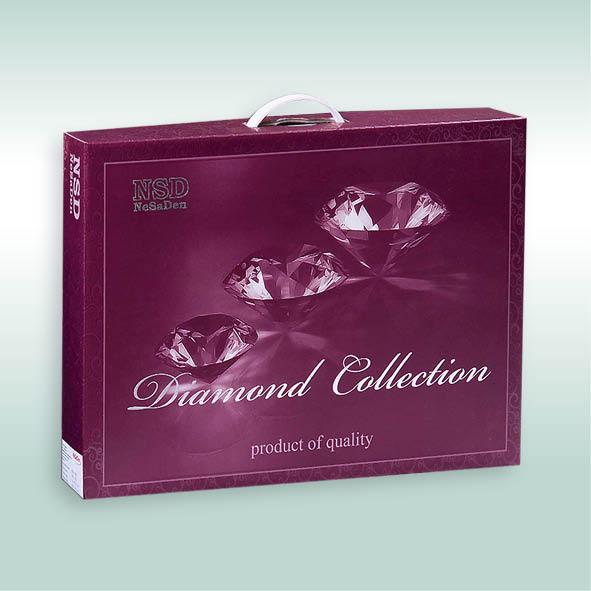"КПБ ""Diamond Сollection"" 2,0 с Евро (сатин; коробка) (диз.: 4-16-6) КСД"