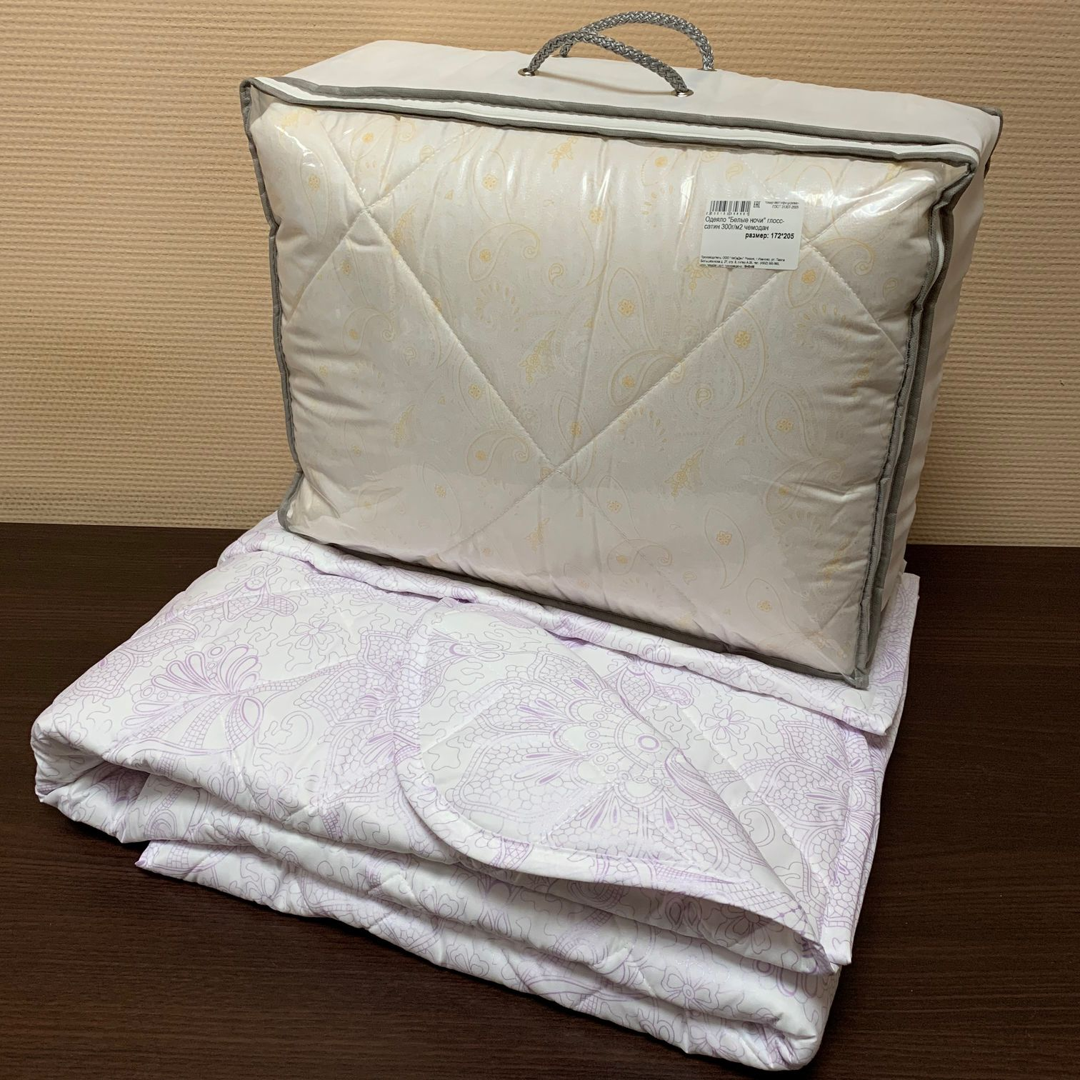 "Одеяло ""Белые ночи"" глосс-сатин 300г/м2 чемодан ОПБЕо"